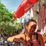 Sangria Break Over Tourist Street in Old Havana