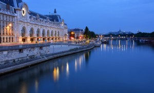 Musee D'Orsay and Seine River at Dawn, Paris France
