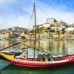beautiful Porto with traditional boats